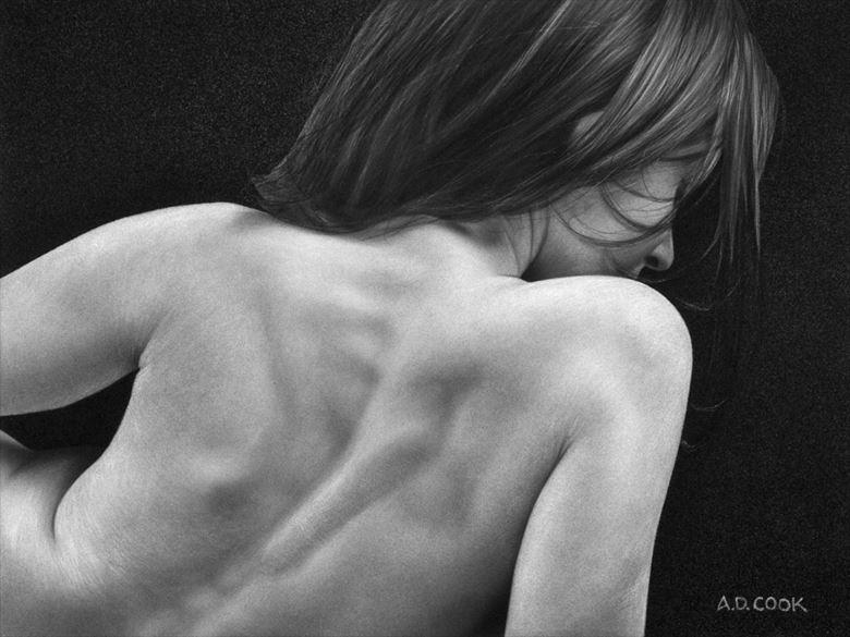 oblivious artistic nude artwork by artist a d cook