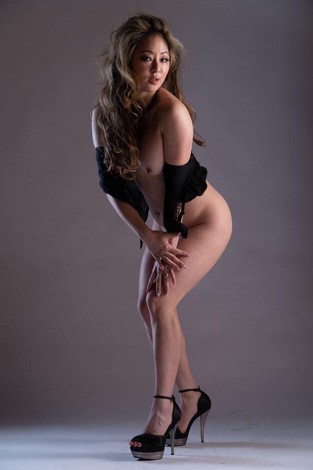 off the shoulder lingerie photo by photographer len cook