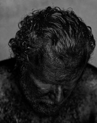oil man chiaroscuro photo by model cosmopolitano