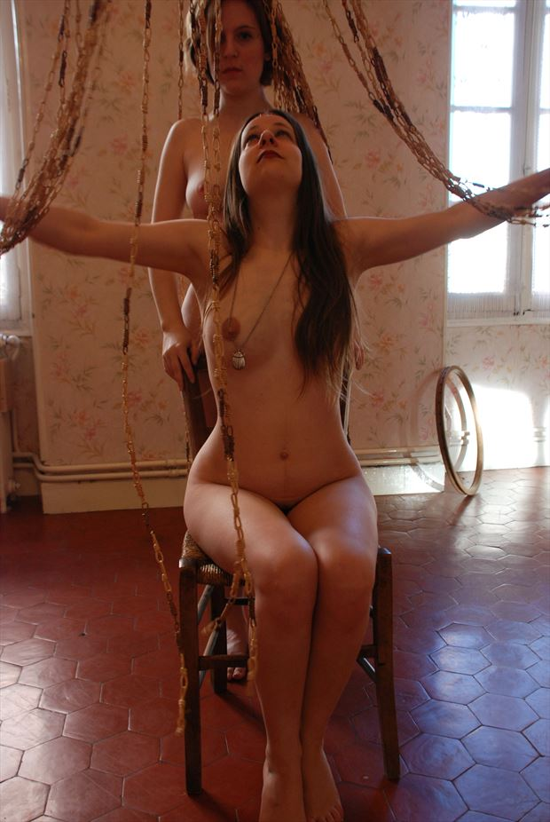old house nymphs artistic nude photo by photographer joseph auquier
