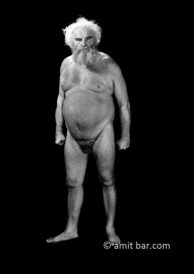 old man i artistic nude photo by photographer bodypainter