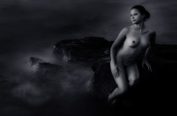 olga in camera painting artistic nude photo by photographer edwgordon