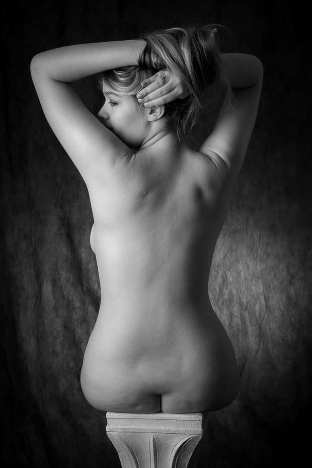 on a pedestal artistic nude photo by photographer opp_photog
