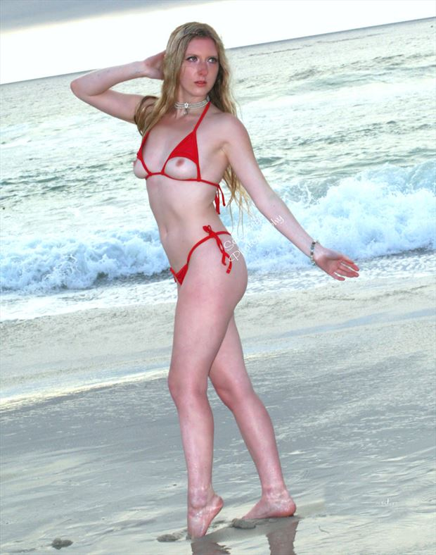 on the beach artistic nude photo by photographer alan james