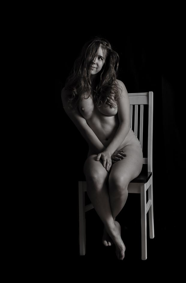 on the chair artistic nude photo by photographer janne