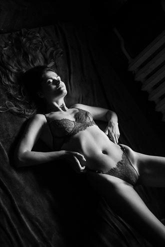 on the floor lingerie photo by model vlada art