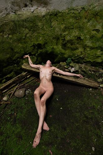on the floor of the silo artistic nude photo by model dorola visual artist