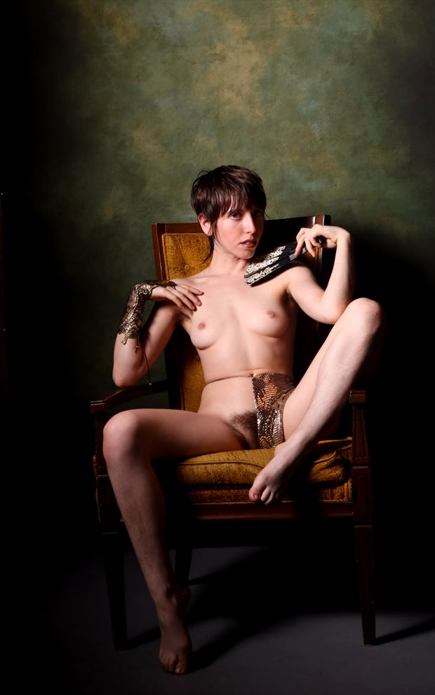 on the golden throne sensual photo by photographer neil jacobson