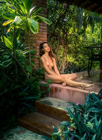 on the patio in mexico artistic nude photo by photographer colinwardphotography