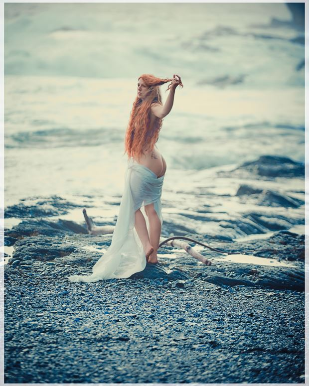 one island to another w angharada artistic nude photo by photographer robin burch