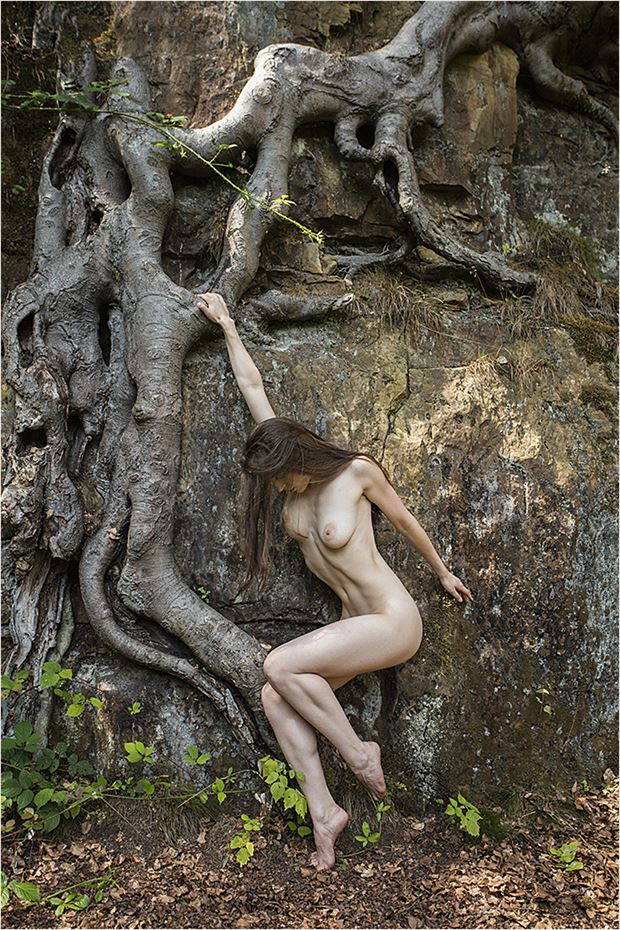one with nature artistic nude photo by model irida s