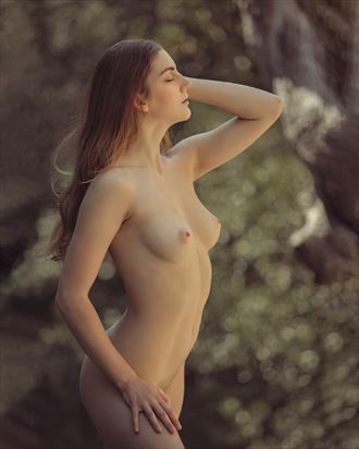 out in the woods artistic nude photo by photographer jonathan c