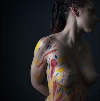 p a i n t e d i artistic nude artwork by photographer lomobox