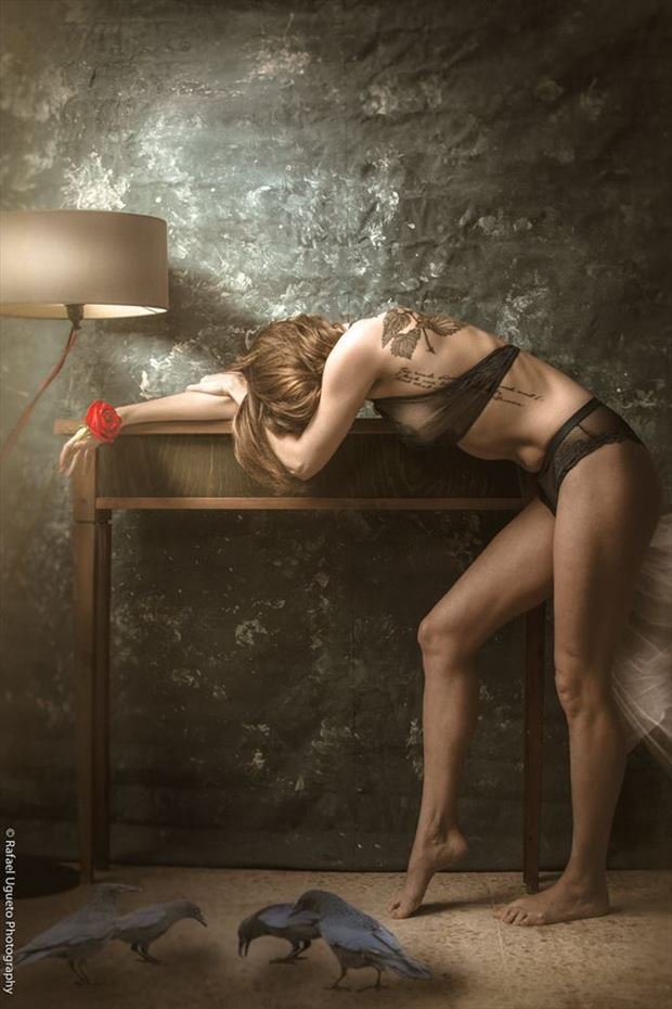 pain lingerie artwork by photographer rafael ugueto