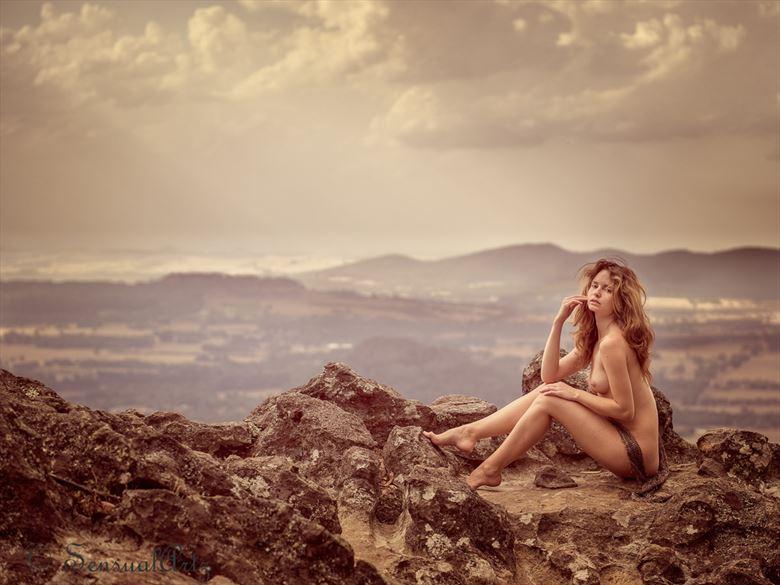 painterly mountain vista nude artistic nude photo by photographer sensual artz