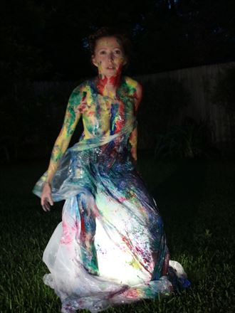 painting drop cloth artistic nude photo by photographer comet photos