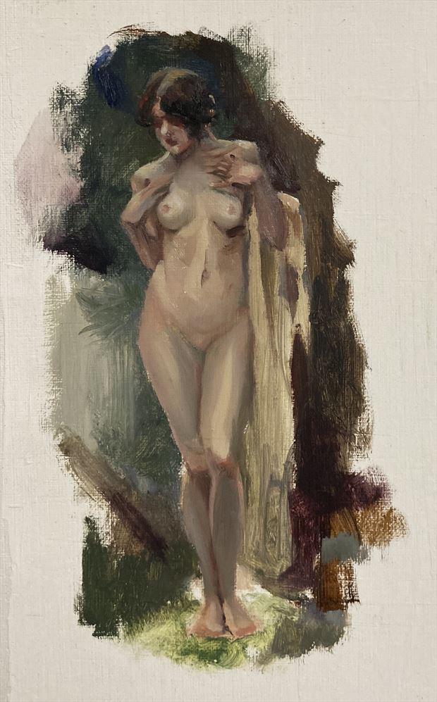 painting study after arthur spooner artistic nude artwork by artist edoism