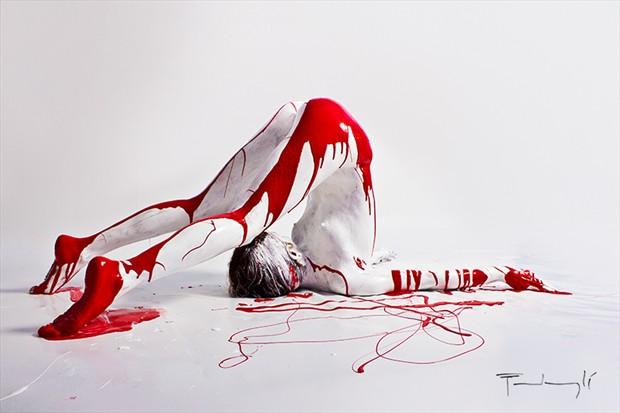 pantone 186C Artistic Nude Photo by Artist pierre fudaryl%C3%AD