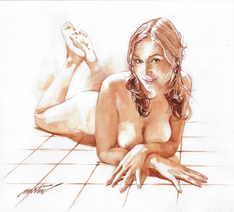 paolina artistic nude artwork by artist james martin