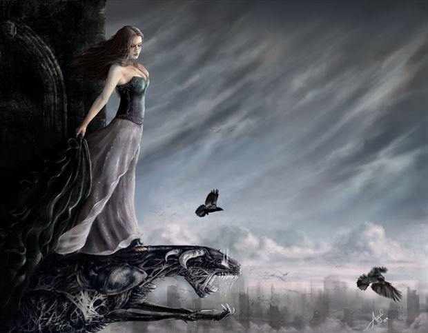 pariah fantasy artwork by artist angeil illustrations