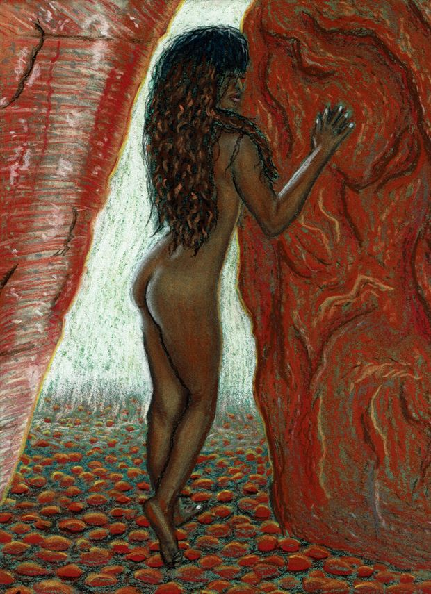 pastel study artistic nude artwork by photographer lugal