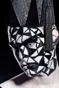 patterned abstract photo by model yoro