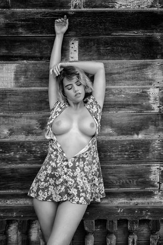 peach in sun dress artistic nude photo by photographer philip turner