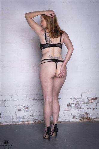 peaches and cream tattoos photo by model shann