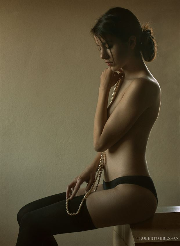pearl lingerie artwork by photographer roberto bressan