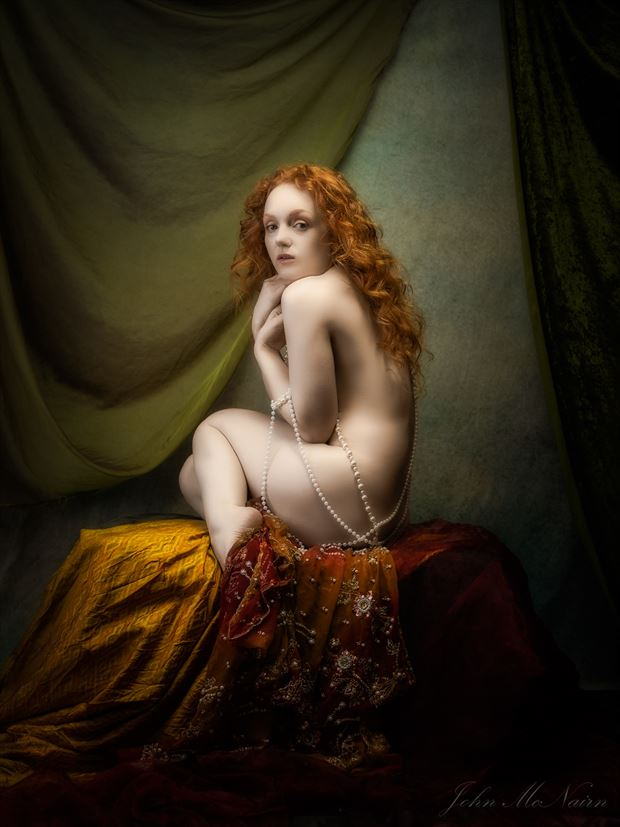 pearlescent artistic nude photo by photographer john mcnairn