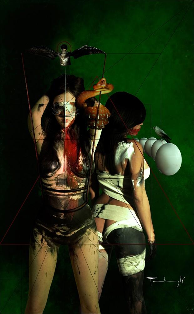 pecado y verguenza Artistic Nude Artwork by Artist pierre fudaryl%C3%AD