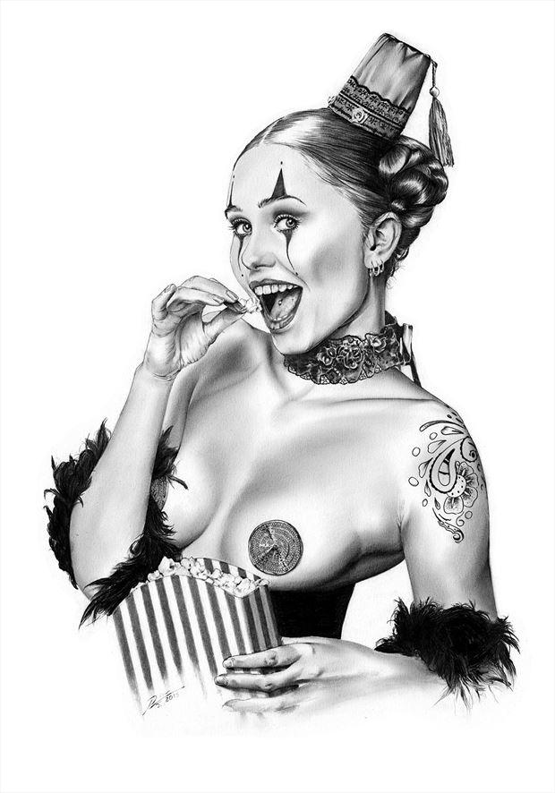 penny nice lingerie artwork by artist dirk richter