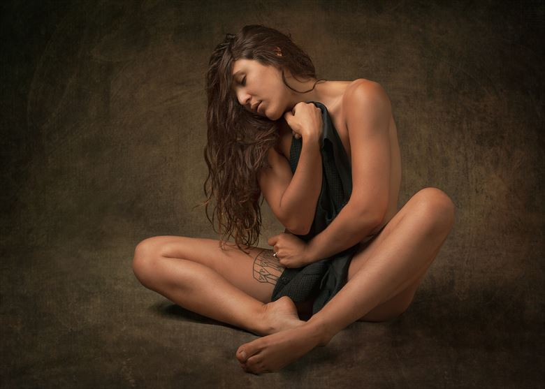 pensive artistic nude photo by photographer fischer fine art