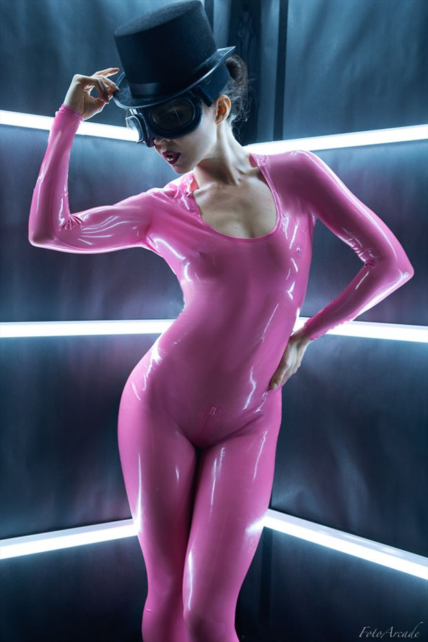 pink latex fetish photo by photographer fotoarcade