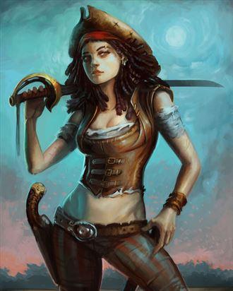 pirate fantasy artwork by artist craig brasco