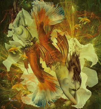 pisces 2021 fantasy artwork by artist digital desires