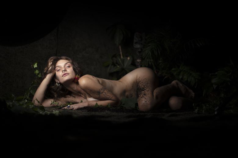 planted artistic nude photo by photographer toby maurer