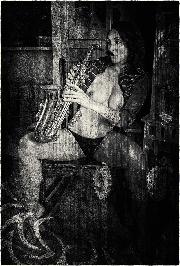 playing the blues artistic nude photo by photographer dpaphoto