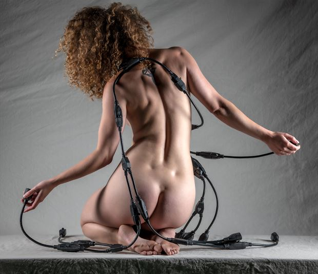 playing with the cable creature artistic nude photo by photographer gpstack