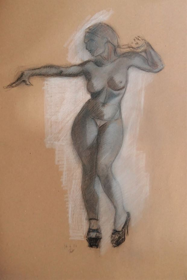 please stay for a while artistic nude artwork by artist alexandros makris