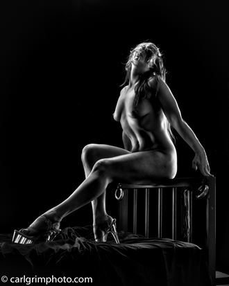 poised in elegance for sir artistic nude photo by model kez chalinor