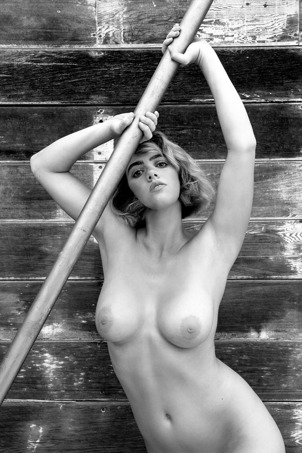 pole vaulting artistic nude photo by photographer philip turner