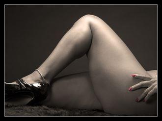polish and heels abstract artwork by photographer bob simpson