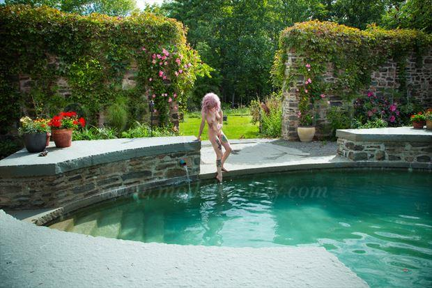 pool paradiso artistic nude photo by photographer michael grace martin