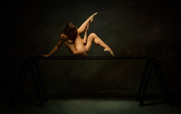 poppyseed dancer twisted on the plank artistic nude photo by photographer doc list