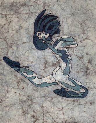 poppyseed jump artistic nude artwork by artist kevin houchin