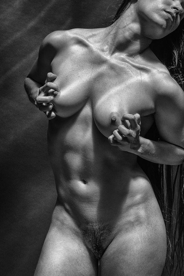 porch series 5 mono artistic nude photo by photographer rick jolson