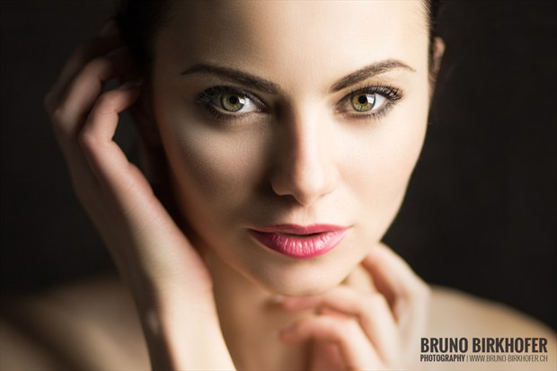 portrait  Studio Lighting Artwork by Model Lena Filanea
