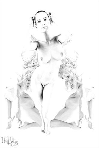 portrait artistic nude artwork by artist derbuettner