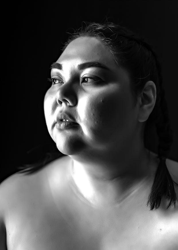 portrait artistic nude photo by model adania